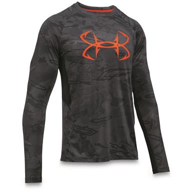 Under Armour Men's CoolSwitch Thermocline Long Sleeve T-Shirt, Black / Phoenix Fire