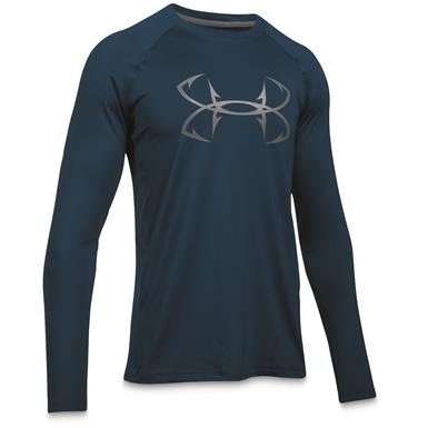 Under Armour Men's CoolSwitch Thermocline Long Sleeve T-Shirt, Blackout Navy / Graphite