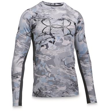 Under Armour Men's CoolSwitch Thermocline Long Sleeve T-Shirt, Ridge Reaper Camo Hydro / Stealth Gray