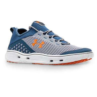 Under Armour Men's Kilchis Water Shoes, Steel/Mechanic Blue/Rodeo Orange