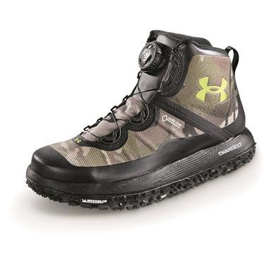 Under Armour Men's Fat Tire GORE-TEX Waterproof Boots, Ridge Reaper Camo Barren / Black / Velocity