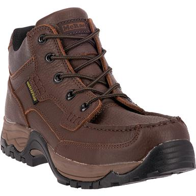"McRae 5"" Waterproof Moc Toe Work Boots, Brown"