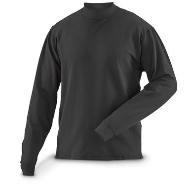 U.S. Military Issue Mock Turtleneck, Base Layer, Long Sleeve, 5 pack, New