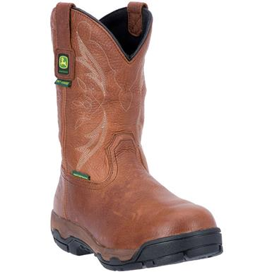 "John Deere 11"" Waterproof Aluminum Alloy Toe XRD Met Guard Work Boots, Tan"