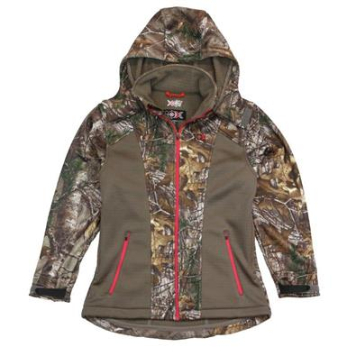 10X Women's Camo Softshell Jacket, Mossy Oak Break-Up Country