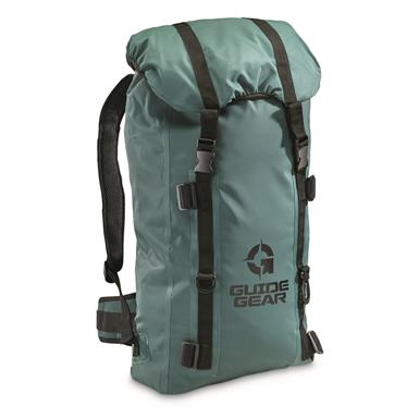 Guide Gear Waterproof Dry Bag Backpack, Green
