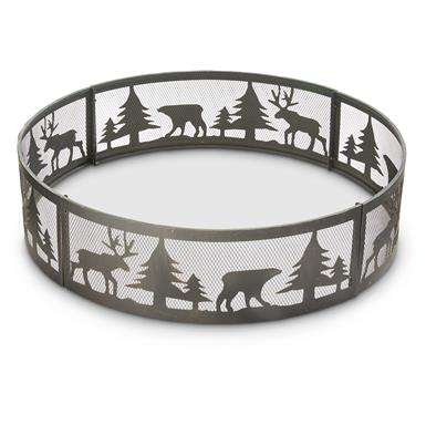 "CASTLECREEK 36"" Wildlife Steel Fire Ring"