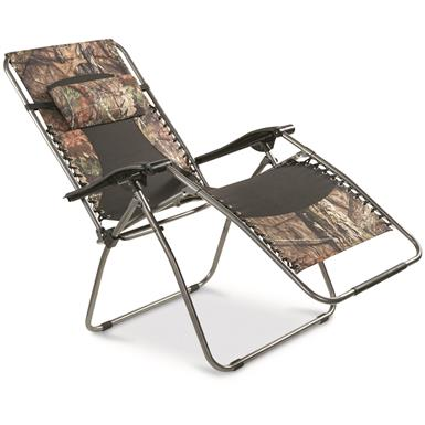 Guide Gear Oversized Mossy Oak Break-Up COUNTRY Zero-Gravity Chair, 500 lb.