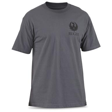 Ruger Men's Logo Camo Stitch T-Shirt, Front