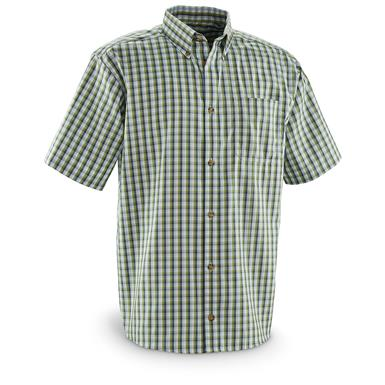 Guide Gear Men's Sportsman's Short Sleeve Shirt, Sage