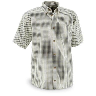 Guide Gear Men's Sportsman's Short Sleeve Shirt, White / Multi