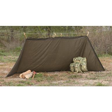 Austrian Military Tent Shelter Half, Like New
