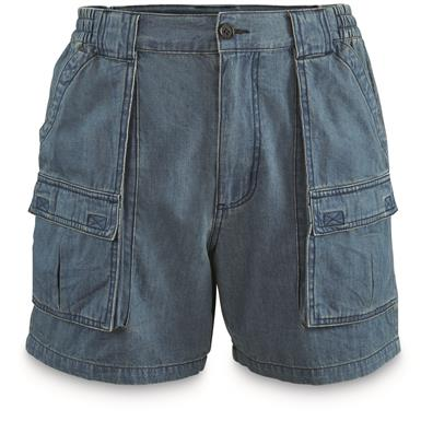 "Guide Gear Men's Wakota Shorts, 6"" Inseam, Denim"