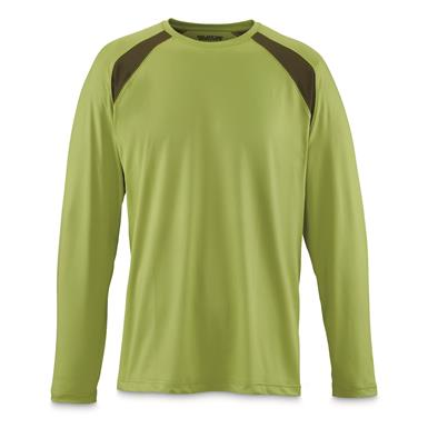 Guide Gear Men's Performance Fishing Long Sleeve Shirt, Green Glow