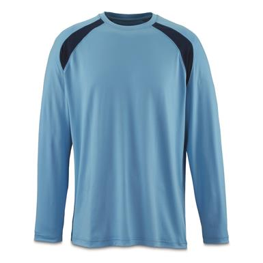 Guide Gear Men's Performance Fishing Long Sleeve Shirt, Light Blue
