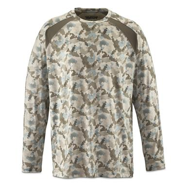 Guide Gear Men's Performance Fishing Long Sleeve Shirt, White Fish Camo