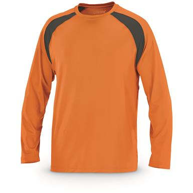 Guide Gear Men's Performance Fishing Long Sleeve T-Shirt, Orange