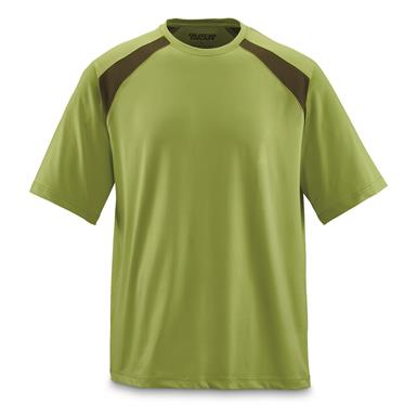 Guide Gear Men's Performance Fishing Short Sleeve Shirt, Green Glow