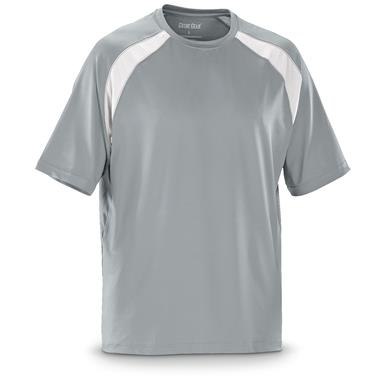 Guide Gear Men's Performance Fishing Short Sleeve T-Shirt, Ash Gray