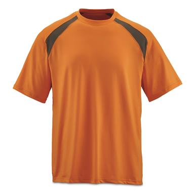 Guide Gear Men's Performance Fishing Short Sleeve T-Shirt, Orange