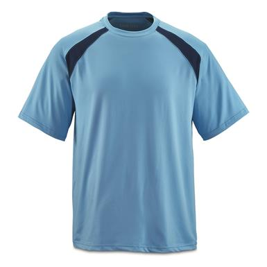 Guide Gear Men's Performance Fishing Short Sleeve Shirt, Light Blue