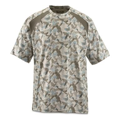 Guide Gear Men's Performance Fishing Short Sleeve T-Shirt, White Fish Camo