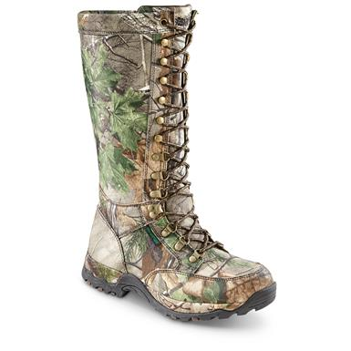 Guide Gear Men's Nylon Side-zip Snake Boots, Waterproof, Realtree Xtra Green