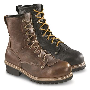 Guide Gear Men's Sawtooth Steel Toe Logger Boots