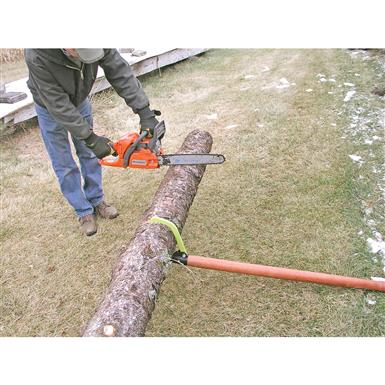 Easily lifts logs so your chainsaw won't dig into the ground