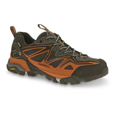 Merrell Men's Capra Sport GORE-TEX Hiking Shoes, Waterproof, Orange