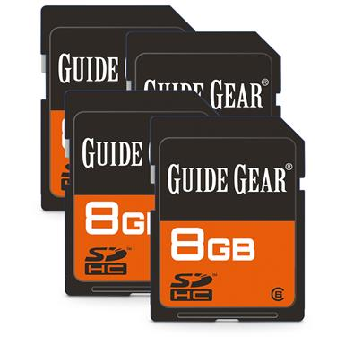 Guide Gear 8GB SD Memory Cards, 4 Pack