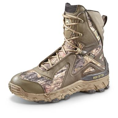 "Irish Setter Men's 9"" VaprTrek LS Waterproof Insulated Hunting Boots, 800 Gram, Brown/Mossy Oak Break-Up® COUNTRY™"