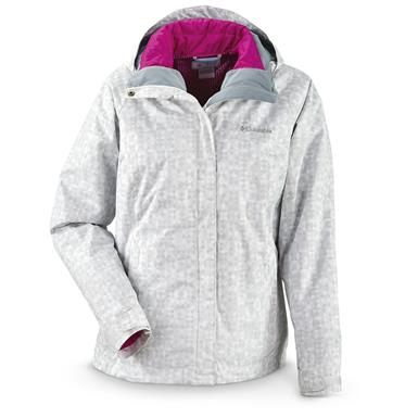 Columbia Women's Outer West Interchange Jacket, White Snowflake