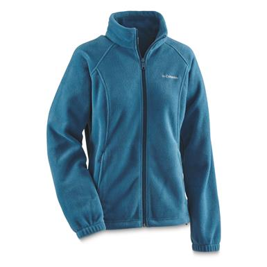 Columbia Women's Benton Springs Full Zip Fleece Jacket, Phoenix Blue