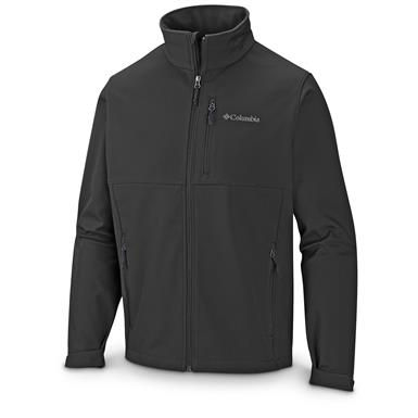 Columbia Men's Ascender Softshell Jacket, Black
