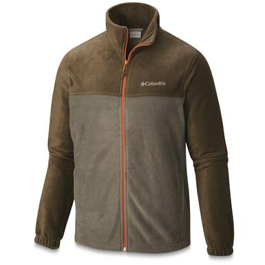 Columbia Men's Steens Mountain Full Zip 2.0 Fleece Jacket, Cypress / Peatmoss