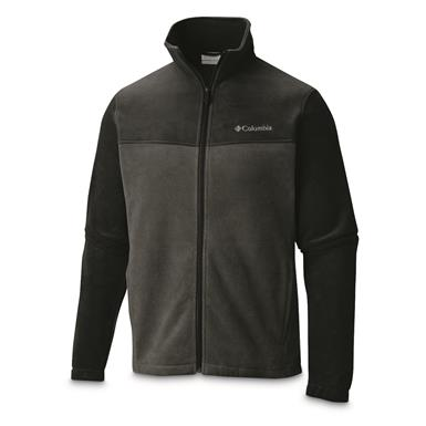 Columbia Men's Steens Mountain Full Zip 2.0 Fleece Jacket, Black / Grill