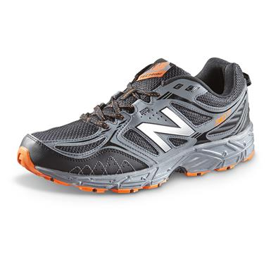 New Balance Men's 510 v3 Trail Running Shoes, Grey / Black / Orange