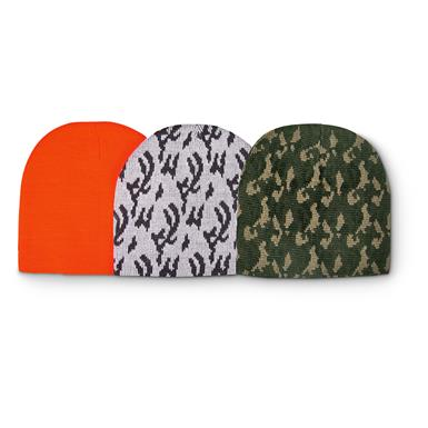 HOT SHOT Beanie Hats, 3 Pack