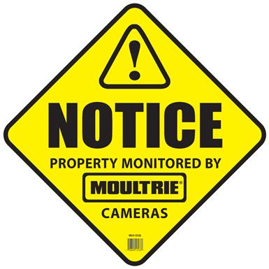 Moultrie Camera Surveillance Signs, 3 Pack