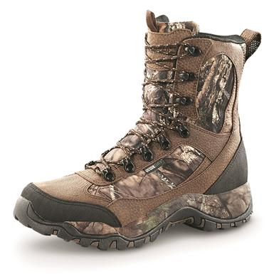 "Guide Gear Men's Pursuit II Camo 9"" Hunting Boots, 800 Gram Thinsulate, Mossy Oak Break-Up Country"