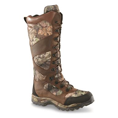 "Guide Gear Mens Pursuit II Camo 16"" Snake Boots, Mossy Oak Break-Up Country, Mossy Oak Break-up® COUNTRY™"