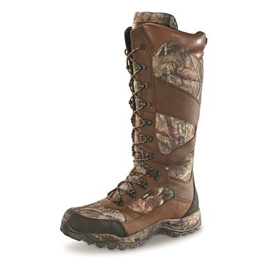 "Guide Gear Mens Pursuit II Waterproof Side Zip 16"" Camo Hunting Boots, 800 Gram Thinsulate, Mossy Oak Break-Up Country, Mossy Oak Break-Up® COUNTRY™"