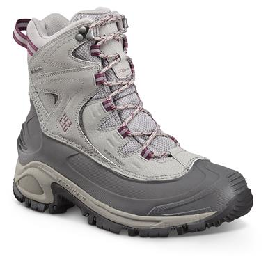 Columbia Women's Bugaboot II Lace-Up Insulated Waterproof Winter Boots, Light Grey / Dark Grey