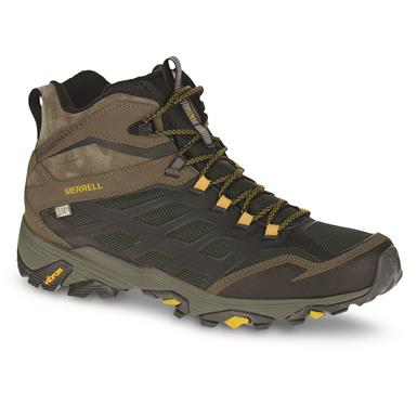 Merrell Men's Moab FST Ice+Thermo Hiking Boots, Pine Grove, Pine Grove/Dusty Olive