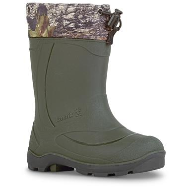 Kamik Kids' Snobuster2 Insulated Winter Boots, Camo