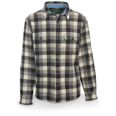 Woolrich Men's Buffalo Plaid Wool Shirt, Gray