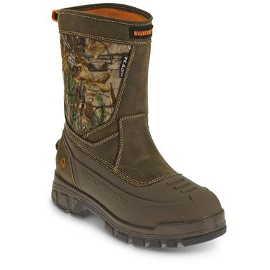 Wolverine Men's Jason EPX Insulated Pull On Hunting Boots, Dark Brown / Realtree Xtra