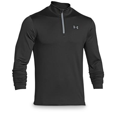 Under Armour Men's ColdGear Infrared EVO 1/4 Zip Shirt, Black / Steel