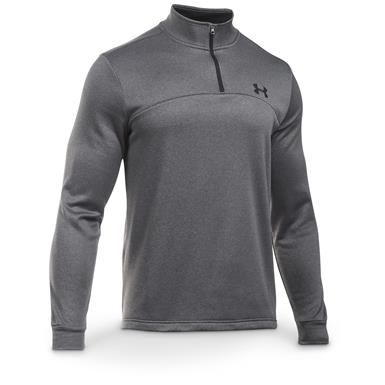 Under Armour Men's Icon Quarter Zip Fleece Shirt, Carbon Gray